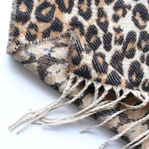 Accessories - Leopard Animal Print Tassel Blanket Scarf Poncho